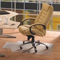 Bureaustoelmat 120x90cm voor tapijtvloeren met uitsparing