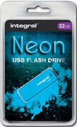 Integral Neon USB Stick 32 GB blauw
