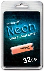 Integral Neon USB Stick 32 GB oranje