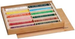 Bruynzeel driehoekig kleurpotlood Triple 144 potloden in een houten koffer