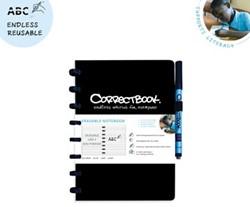 Correctbook A5 gelijnd herbruikbaar schrift, zwart