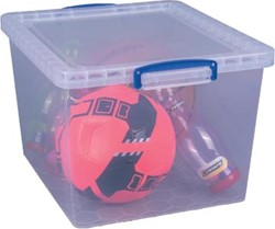 Really Useful stapelbare Box 33,5 liter, transparant, pak van 3 stuks