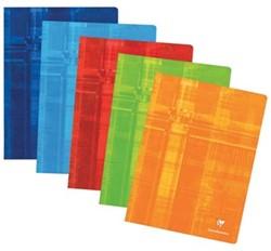 Clairefontaine schrift ft 24 x 32 cm, 120 bladzijden, geruit 5 mm, geniet, geassorteerde kleuren