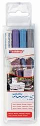 Edding paintmarker e751, etui van drie stuks, geassorteerde metallic kleuren