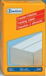 AVERY Frankeeretiketten ft 163 x 43 mm, 500 stuks