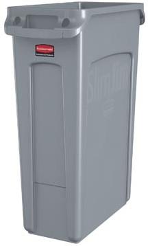 Vuilnisbak Rubbermaid Slim Jim 87 liter grijs