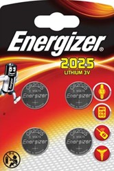 Energizer knoopcellen lithium CR2025, blister van 4 stuks