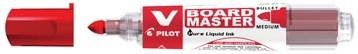 Pilot V board Master whiteboard marker rood