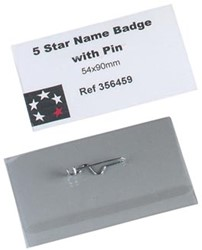 5Star  badge met speld ft 54 x 90 mm