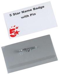 5Star  badge met speld ft 40 x 75 mm, doos van 100 stuks