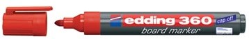 Whiteboard markers Edding e-360 rood