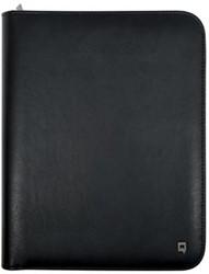 Tablet schrijfmap A4 zwart lederlook