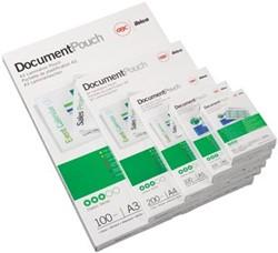 Lamineerfolie Document Pouch GBC 60x90mm 2 x 125 micron 100 stuks