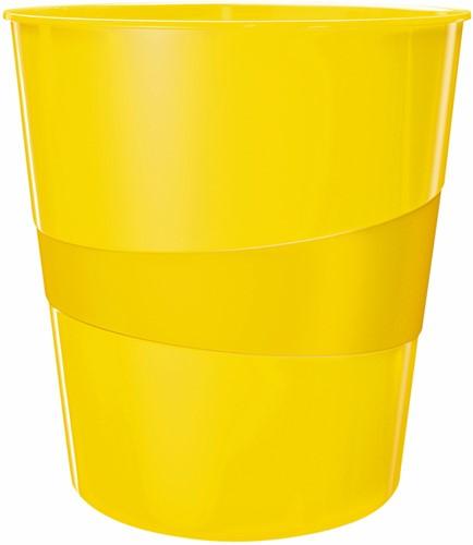 Papierbak Leitz WOW 15liter geel