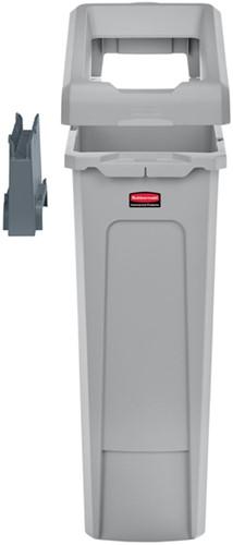 Afvalbak Slim Jim grijs 87 liter starterset