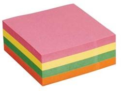 5Star  Re-Move  Note Cube neonkleuren: geel, roze, groen en oranje