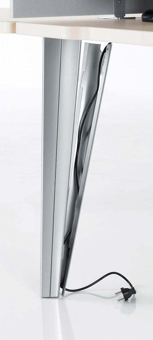 Kantoorbureau 4Line met designpoten en extra dik blad   Antraciet   Wit bij Pro Office