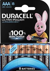 Duracell batterijen Ultra Power AAA, blister van 8 stuks