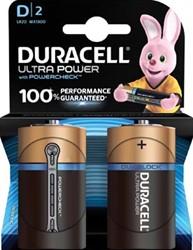 Duracell batterijen Ultra Power D, blister van 2 stuks
