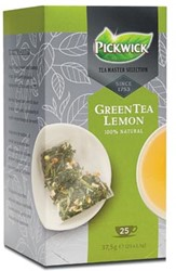 Pickwick Tea Master Selection, green tea lemon, pak van 25 stuks
