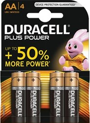Duracell batterijen Plus Power AA, blister van 4 stuks