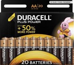 Duracell batterijen AA Plus Power, pak van 20