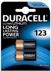 Duracell Ultra Lithium 123, blister van 2 stuks