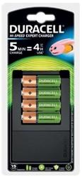Duracell batterij oplader Hi-speed Expert Charger, inclusief 4 AA batterijen
