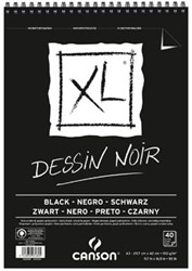 Canson tekenblok XL 150g/m² ft A3, 40 vel, zwart