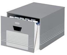 Elba archieflade, ft 38,5 x 46 x 35 cm,  grijs en wit