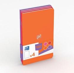 Oxford Pocket Notes, ft 9 x 14 cm, gelijnd, 48 bladzijden, geassorteerde vrouwelijke kleuren, pak 4 stuks