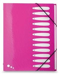 Elba Art Pop sorteermap, ft A4, 12 vakken, uit PP, roze