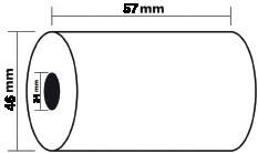 Thermische kassarollen 57 x 46 x 24 mm pak van 5 stuks