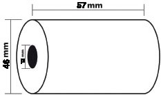 Thermorollen 57 x 46 x 12 mm pak van 5 stuks