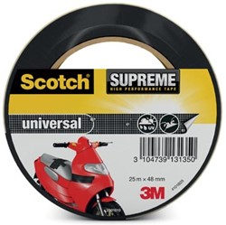 Scotch Supreme reparatietape Universal, ft 48 mm x 25 m, zwart