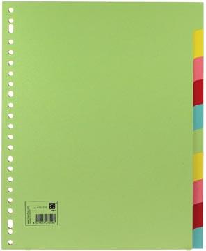 Scheidingsbladen A4 maxi met 10 tabs in geassorteerde kleuren