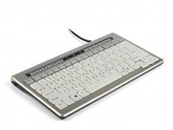 BNES840DDE BAKKER KEYBOARD DE S-board 840 Design USB silber-weiss