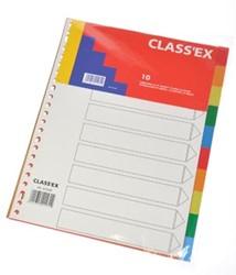 Plastic tabbladen 10-delig geassorteerde kleuren 23-gaatsperforatie