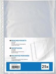 Geperforeerde showtas ft A4, 23-gaatsperforatie, uit PP 80 g/m², pak van 25 stuks