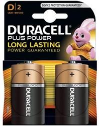 Duracell batterijen Plus Power D, blister van 2 stuks