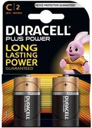 Duracell batterijen Plus Power C, blister van 2 stuks