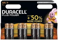 Duracell batterijen Plus Power AA, blister van 8 stuks