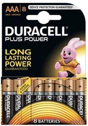 Duracell batterijen Plus Power AAA, blister van 8 stuks