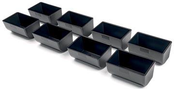 Safescan muntbakjes voor kassalades serie 4141, zwart set van 8 stuks