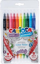 Carioca viltstift Birello Color Relax, etui met 10 stuks in geassorteerde kleuren