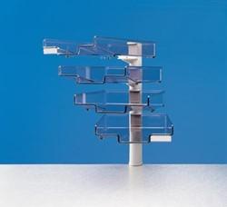 Styro Brievenbak met 4 brievenbakjes lichtgrijs