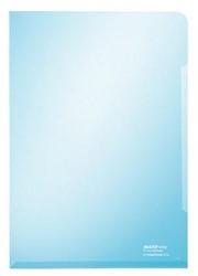Leitz insteekmap met versterkte geplakte rand aan onderzijde blauw 150 micron 100 stuks