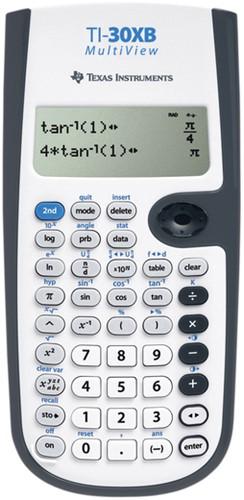 Texas wetenschappelijke rekenmachine TI-30XB Multiview werkt op batterijen