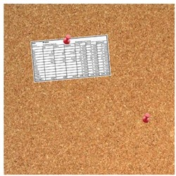 Prikbord kurk zonder kader 35 x 35 cm