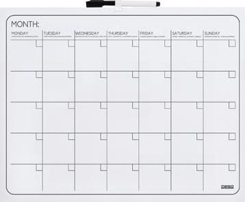 Maandplanner whiteboard Desq 40x50cm